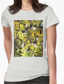 Shrek Collage  Womens Fitted T-Shirt