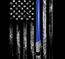 THIN BLUE LINE - STAR WARS - LIGHT SABER - THE FORCE by Danny  Porter