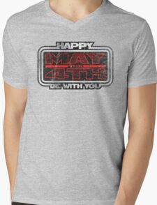 Happy May the 4th! (Grunge) Mens V-Neck T-Shirt