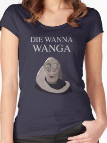 Bib Fortuna: Die Wanna Wanga: White Version Women's Fitted Scoop T-Shirt
