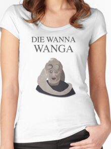 Bib Fortuna: Die Wanna Wanga: Black Version Women's Fitted Scoop T-Shirt