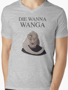 Bib Fortuna: Die Wanna Wanga: Black Version Mens V-Neck T-Shirt
