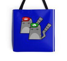 Mario and Luigi cat Tote Bag