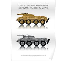 Sd. Kfz. 234/3 - German tank - Heavy armored reconnaissance cars - 7.5 cm Poster