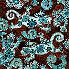 FLOWER GECKOS by Lisa Frances Judd~QuirkyHappyArt