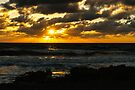 Fire on The Atlantic Ocean by JKKimball