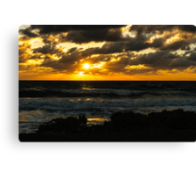 Fire on The Atlantic Ocean Canvas Print