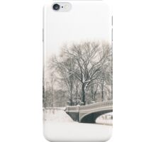 The Serenity of Snow - Central Park - New York City iPhone Case/Skin