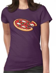 PIZZA SLICE  Womens Fitted T-Shirt