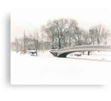 Bow Bridge After Snowfall, Central Park, New York City Canvas Print