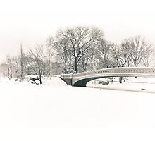 Bow Bridge After Snowfall, Central Park, New York City Photographic Print