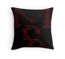 My Chemical Romance Tribute Shirt Throw Pillow