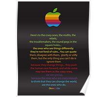 Apple/ Steve Jobs The Crazy Ones  Poster