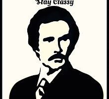 Stay Classy - Ron Burgundy by JamesTownsmen