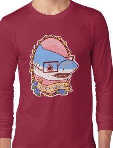 Nerd Shark Long Sleeve T-Shirt