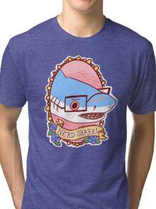 Nerd Shark Tri-blend T-Shirt