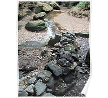 Rocky Creek Bed Poster