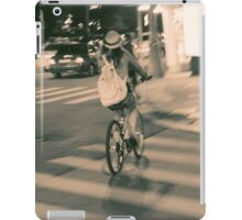 Girl on Bicycle iPad Case/Skin