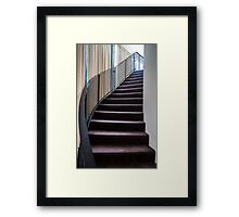 Curved Stair. Framed Print