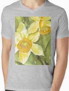 Golden Daffodils  Mens V-Neck T-Shirt