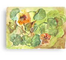 My Flowers and I Canvas Print
