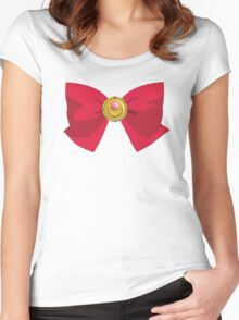 Sailor Moon - Brooch/Ribbon Women's Fitted Scoop T-Shirt