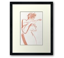 girl with tulips3 Framed Print