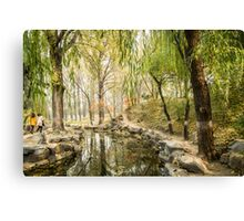 A walk in autumn Canvas Print