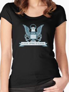 Illegal Spying is Illegal Women's Fitted Scoop T-Shirt