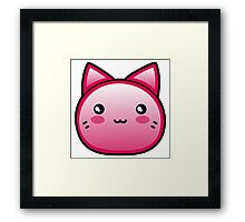 Smiling Red Anime Kitten Framed Print