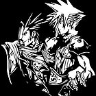 Cloud, Zack, Sephiroth   by Phox