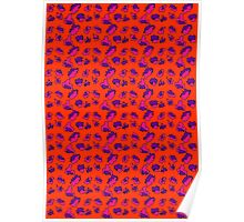 Bright Bold Abstract Patterned Contrasting Color Mix Poster