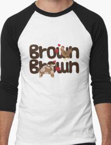 Brown Chicken Brown Cow Men's Baseball ¾ T-Shirt