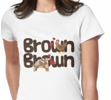 Brown Chicken Brown Cow Womens Fitted T-Shirt