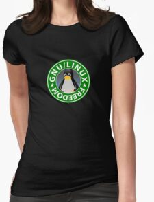 Tux : GNU/LINUX FREEDOM Womens T-Shirt