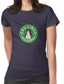 Tux : GNU/LINUX FREEDOM Womens Fitted T-Shirt