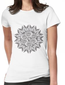 Ring A-Round of Roses Womens Fitted T-Shirt