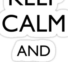 Walking Dead - Keep Calm and Eat Pudding Carl Sticker