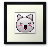 Laughing Anime Kitten Framed Print