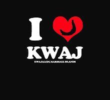 I (HEART) KWAJ (Device Case Black) by aeng104