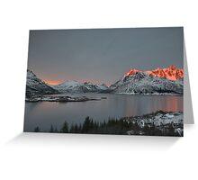 Austnesfjord at Sunset Greeting Card