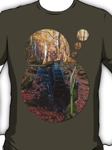 Water wheel in the wood | architectural photography T-Shirt