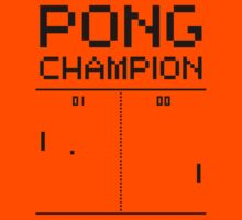 Pong Champion Kids Clothes