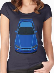 Nissan Skyline GTR R34 Women's Fitted Scoop T-Shirt
