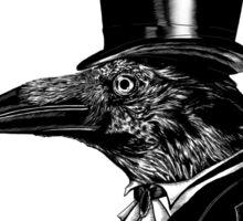 Raven in top hat Sticker