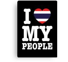 I Heart (Love) My Thai People Canvas Print