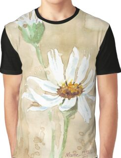 Scattered Daisy leaves Graphic T-Shirt