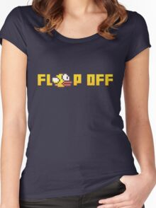 Flappy Bird - Flap Off! Women's Fitted Scoop T-Shirt