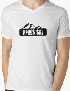 apres ski, ski, party, winter, snowboard,ride,hut Mens V-Neck T-Shirt