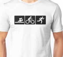 Triathlon: Swim + Bike + Run Unisex T-Shirt
